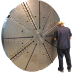Large sliding jaw chuck